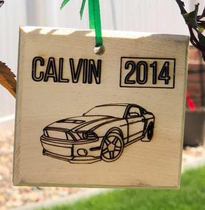 Mustang Car Ornament