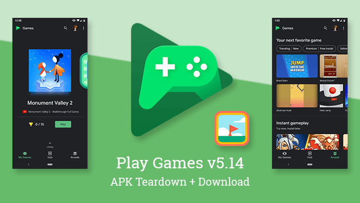 Google Play Games v5.14 enables Dark Theme for all, prepares Minesweeper, and... ┴┬┴┤( ͡° ͜ʖ├┬┴┬ a pointless side project? [APK Teardown]