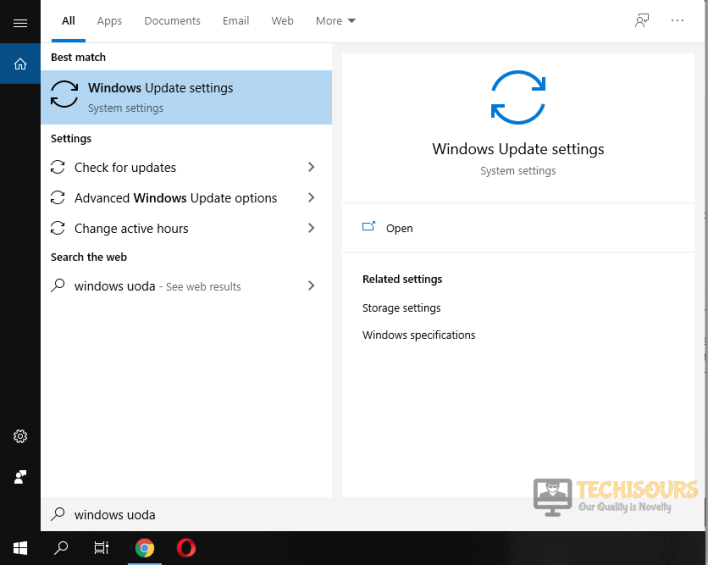 Choose windows settings to fix no amd graphics driver is installed issue