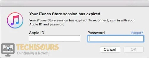 Fix: Your iTunes session has expired on Mac and Windows