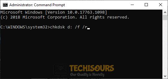 Run chkdsk to solve macrium reflect error 9 issue