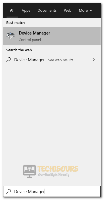 Selecting Device Manager