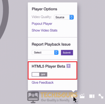 Turn OFF HTML5 Player