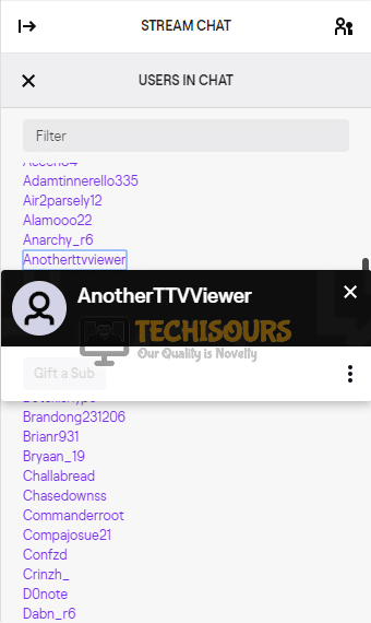 Select a user to make them a moderator