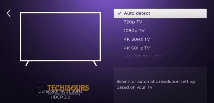Select desired settings to fix Roku Error Code 020