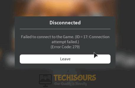 roblox error code 279 on pc