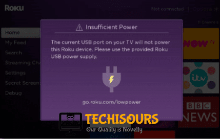 Roku Low Power message
