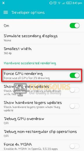 Force GPU rendering to fix pubg crashing