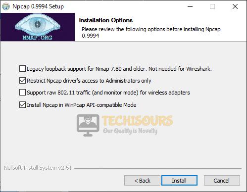 Install Npcap to fix FFXIV Error 2002
