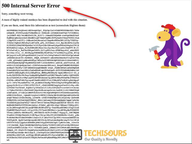 500 Internal Server Error.