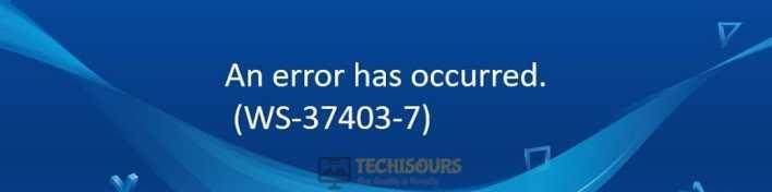 Error ws-37403-7 display