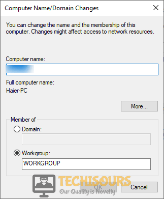Switch to Workgroup