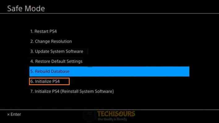 Initialize PS4 to get rid of ps4 error code np-36006-5
