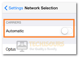 Toggling the Automatic Button