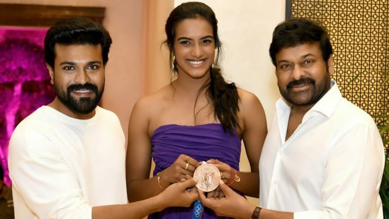 Chiranjeevi, Ram Charan Felicitate PV Sindhu for Her Olympic Bronze Medal Win; Rana Daggubati, Nagarjuna and Others in Attendance (View Pics) | 🎥 LatestLY