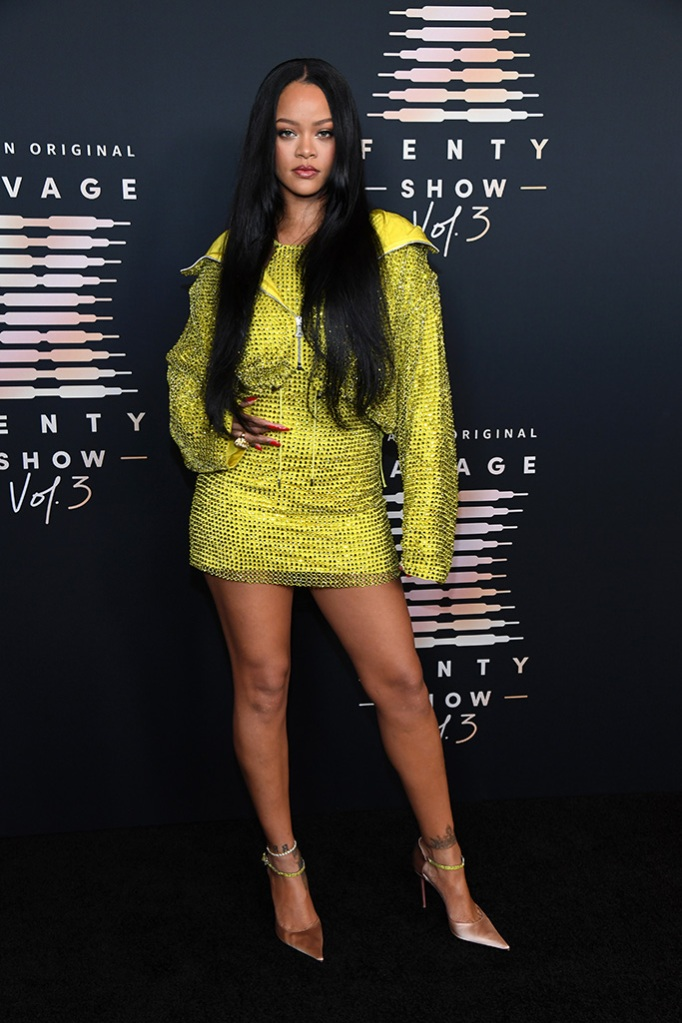 Rihanna Wows in Yellow Dress & Hoodie for Savage x Fenty Red Carpet – Footwear News
