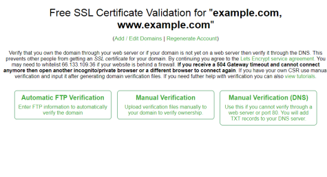 How to install free SSL