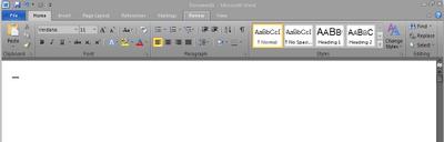 Office 2010 Word screenshot