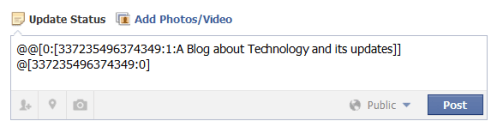 tag fb page or users with different text