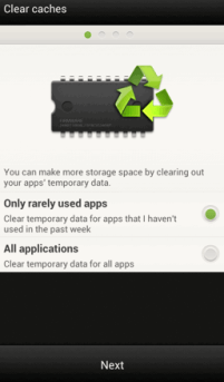 how to clear app and other cache from android device