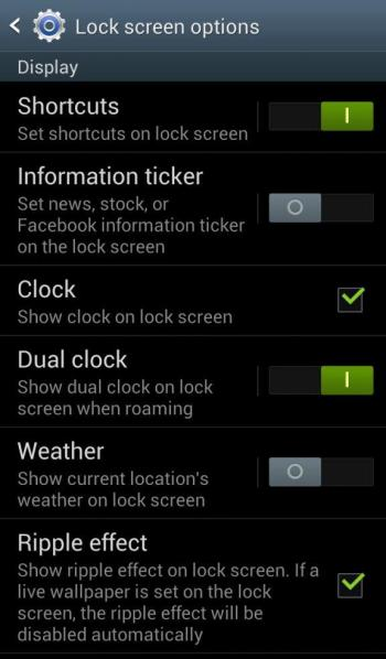 How to add shortcuts to lock screen in Galaxy S4, S3 and S2