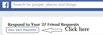 How to Delete Sent Friend requests in Facebook profile