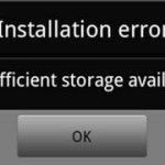 Internal Storage Error