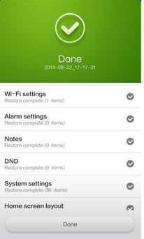 How to back up settings data and items in xiaomi mi 3