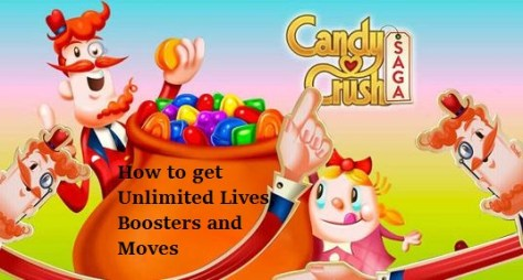 How to get unlimited number of lifes, moves and boosters in candy crush saga in android devices