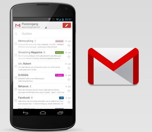 how to delete gmail account from phone android