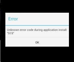 How to solve or fix error code 919 in google play store installing application