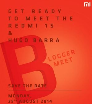 Xiaomi Redmi 1s launch at bloggers meet on aug 26