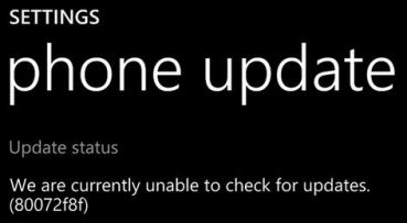 How to solve or fix error 80072f8f while checking for updates in windows phone