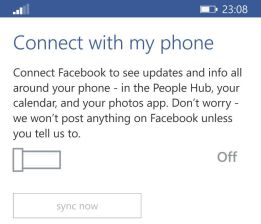How to unsync or connect facebook contacts to nokia lumia and windows phones
