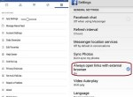 How to stop or disable in app browser in facebook android app