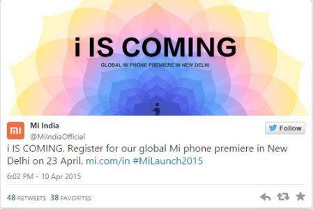 xiaomi mi global phone premier event in new delhi on april 23rd
