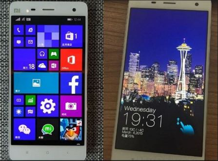 Xiaomi mi4 with windows 10 rom