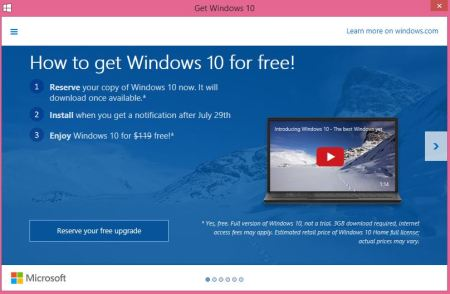 how to upgrade to windows 10 in your laptop or pc for free