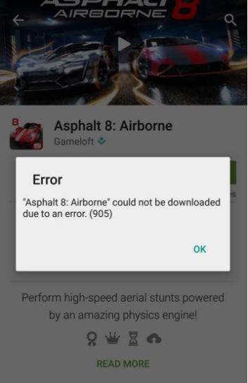 How to fix error 905 in google play store