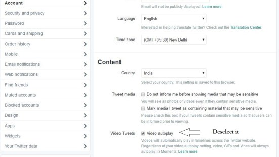 How to stop Video Autoplay on Twitter website