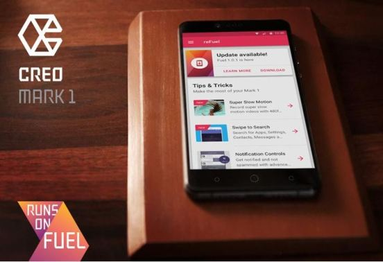CREO Mark 1 gets latest Fuel OS monthly update with new features