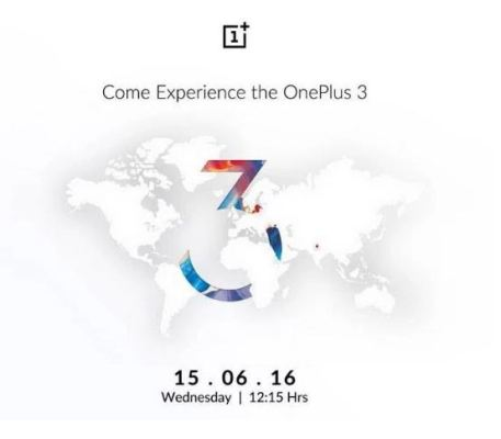 OnePlus 3 launch event date and time
