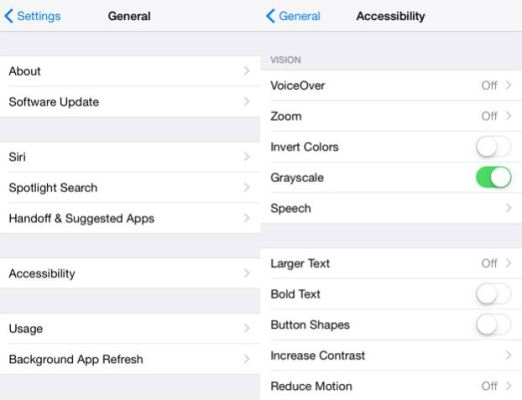 How to fix Black and white screen in iPhone or turn off Grayscale