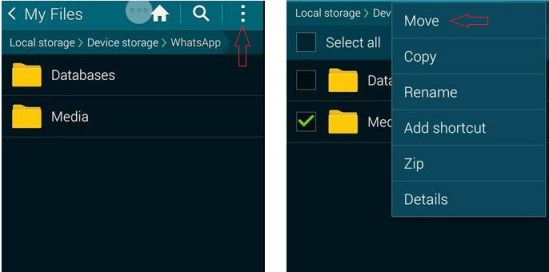 How to transfer WhatsApp Images and Videos to SD card from internal storage