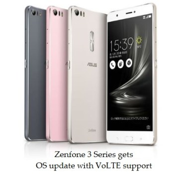Asus Zenfone 3 series get VoLTE update with new OS update