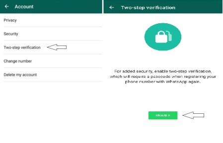 How to activate two step verification on WhatsApp