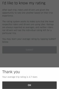 How to see your Uber Rating on Android or iOS smartphone