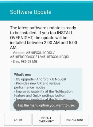 Samsung Galaxy A5 and Galaxy A7 get Android 7.0 Nougat update
