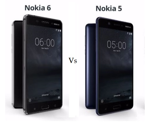 Nokia 6 vs Nokia 5 Comparison and Differences