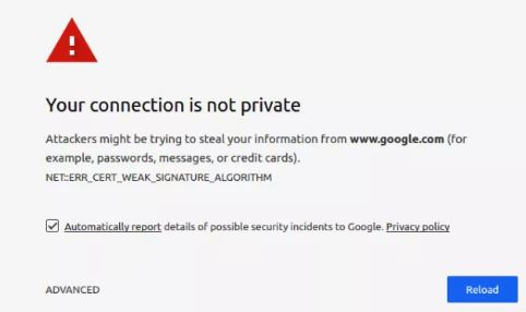 How to Fix Your Connection is not private Error in Google Chrome